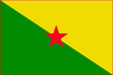 Tafelvlag Frans-Guyana 10x15cm | met standaard