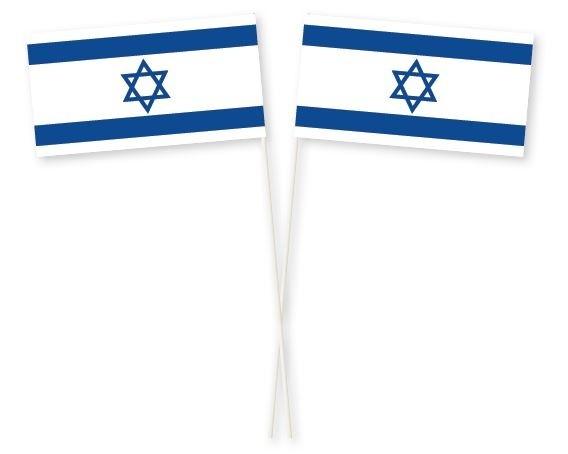 zwaaivlaggetjes israel 11x21cm, stoklengte 40cm