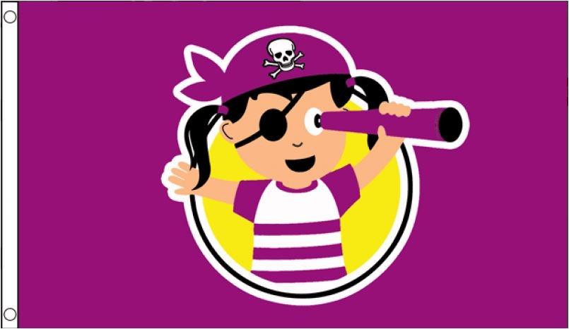Grote Piratenvlag kind meisje 90x150cm