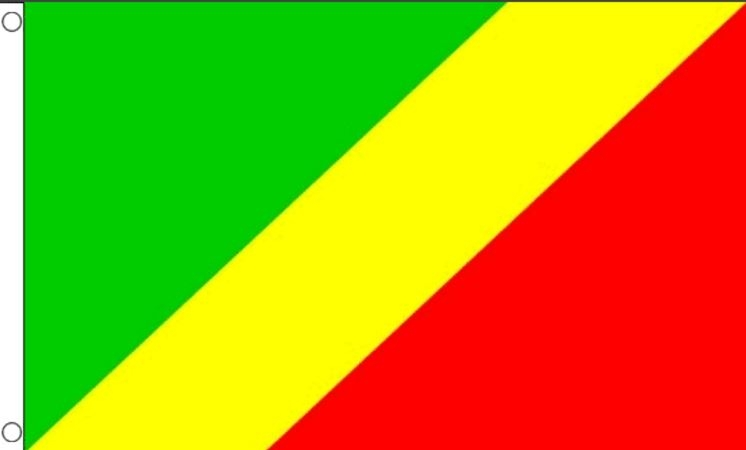 Vlag Congo Brazzaville Vlaggen 90x150cm Best Value