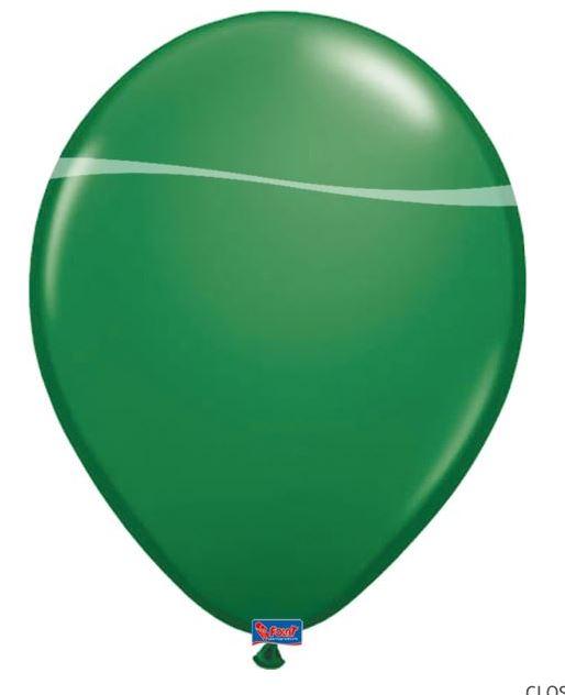 ballon groen 10 stuks 12 inch 30cm groot