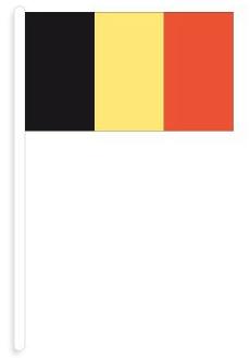 zwaaivlag België   België zwaaivlaggen 20x30 cm plastic