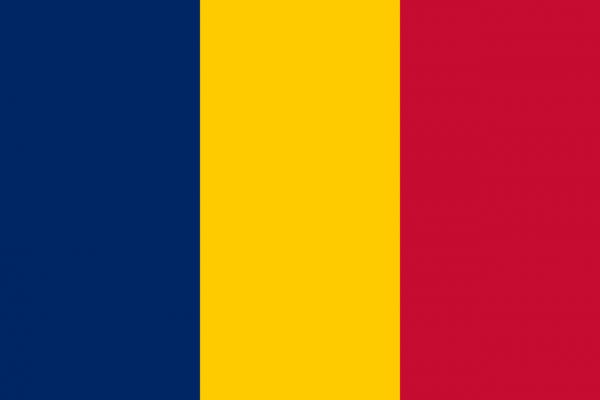 Vlag Tsjaad 100x150cm Glanspoly