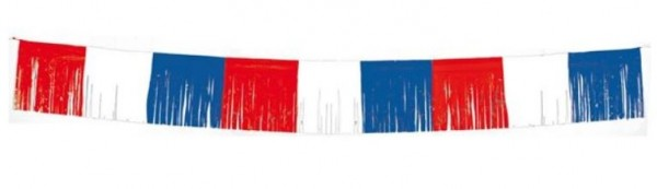 Vlaggenlijn Franjeslinger Rood/Wit/Blauw 5m