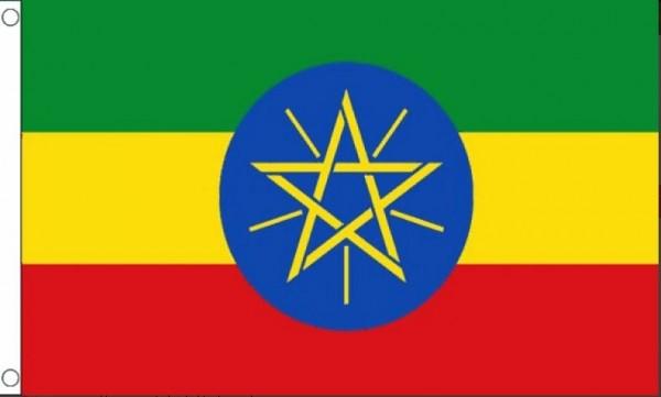 Vlag Ethiopie met ster 90x150cm | Best Value