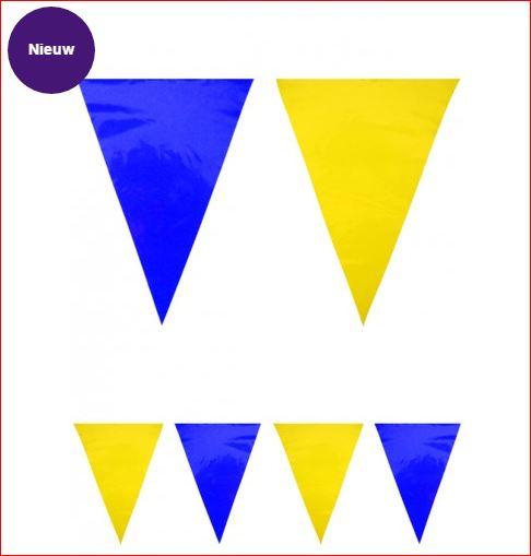 Vlaggenlijn Blauw Geel 10m
