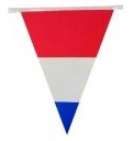 Vlaggenlijn Nederlandse vlaggen rood wit blauw