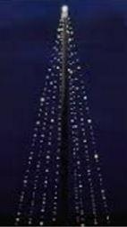 Kerstboom led verlichting XL voor in de vlaggenmast 6m