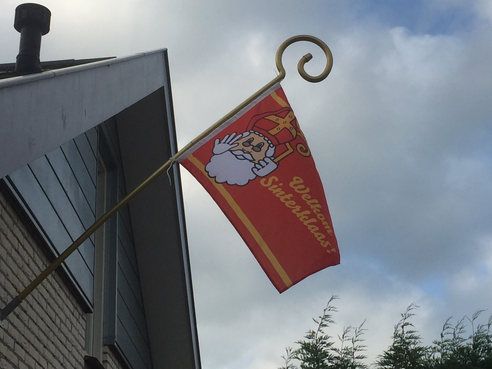Sinterklaasvlag met staf