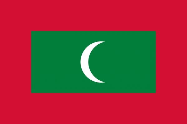 Tafelvlag Malediven met standaard