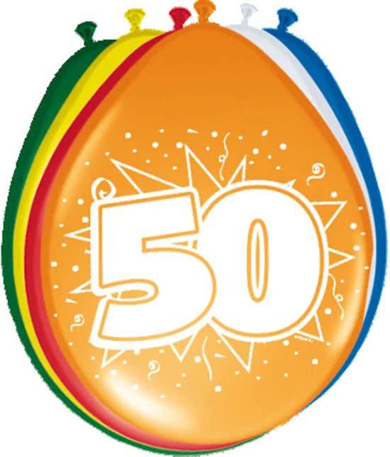 Ballonnen 50 jaar 8 stuks