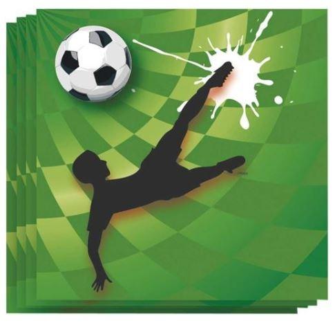 Servetten voetbal goal 20 stuks WK   EK