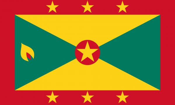 Tafelvlag Grenada met standaard