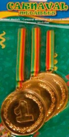Carnaval Limburg grote medailles 3 stuks