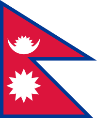 vlag Nepal 150x225cm Nepalese vlaggen kopen