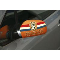autospiegel hoezen WK oranje met leeuw set van 2 stuks