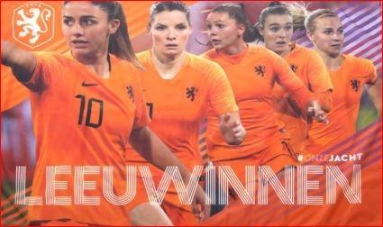 Leeuwinnen vlag KNVB oranje dames 100x150cm