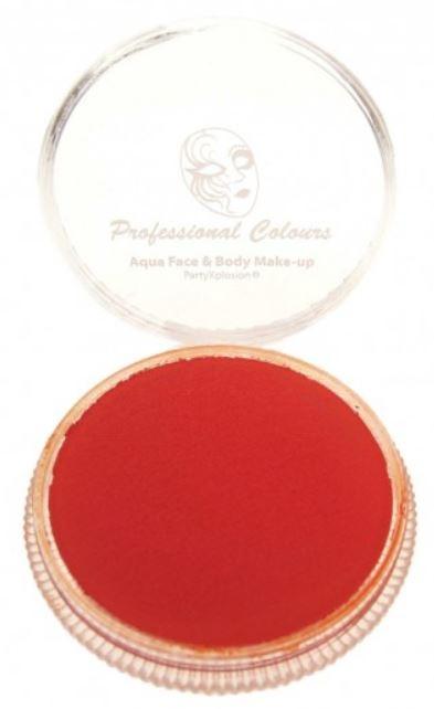 Vuur rood schmink Aqua PXP Waterbasis face & body 30 gram FIre Red