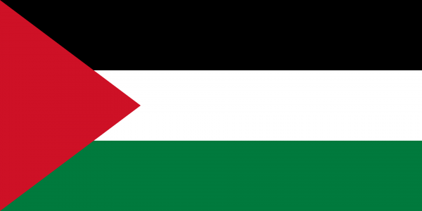 Tafelvlag Palestina met standaard