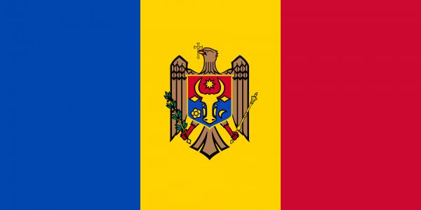Tafelvlag Moldavie met standaard