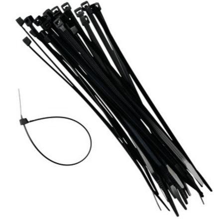 Kabelbinder, tie-wraps zwart 2,5x100mm, 100 stuks