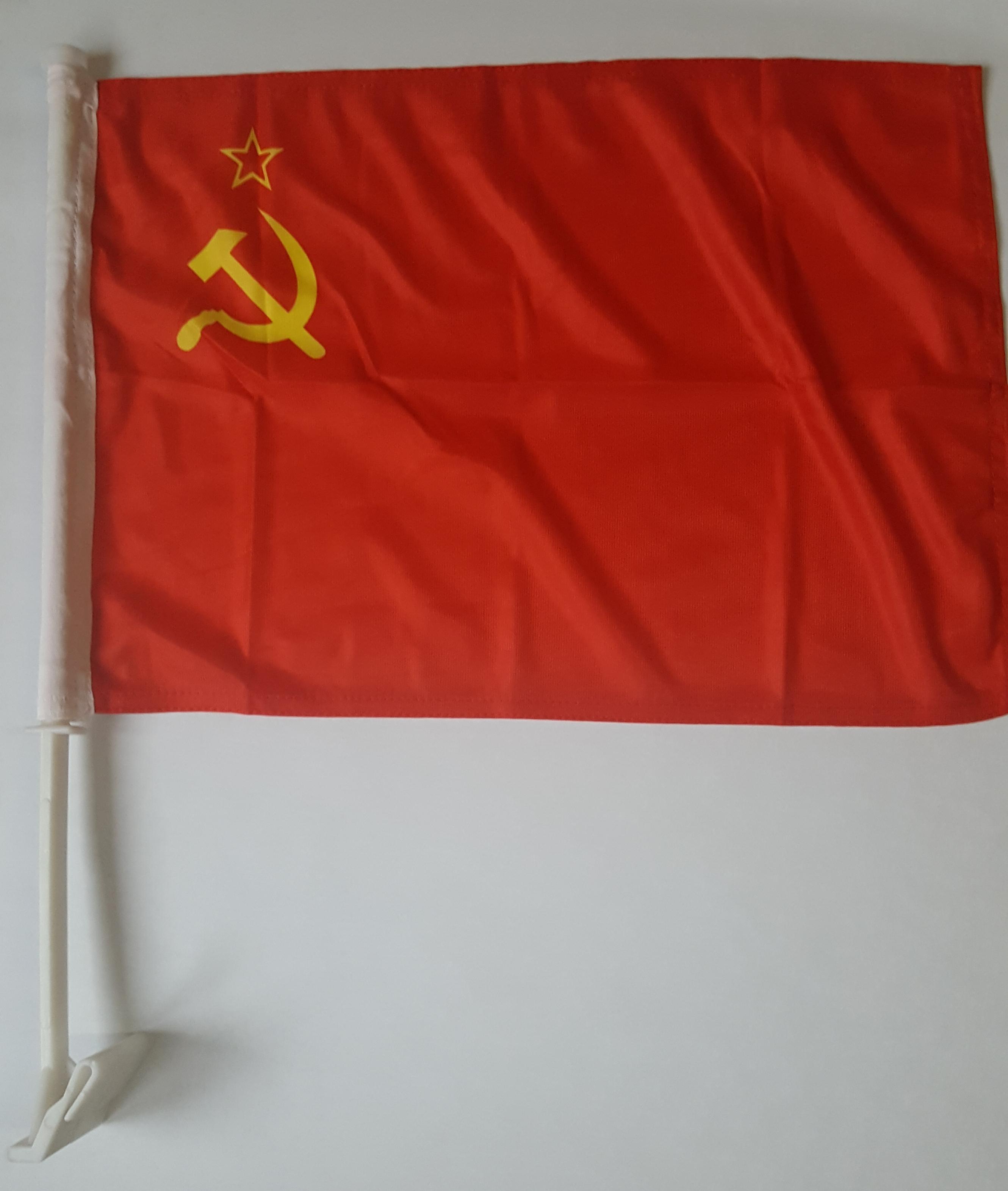 Autovlag USSR Luxe Sovjet Unie vlag van 30x45cm