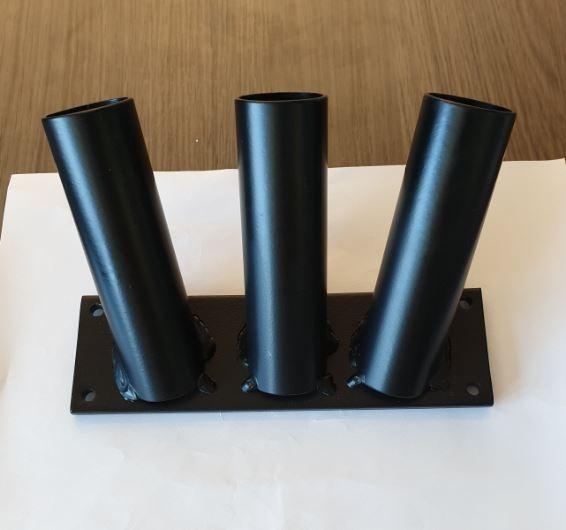Trio Vlaggenstokhouder- Drielinghouder Zwart