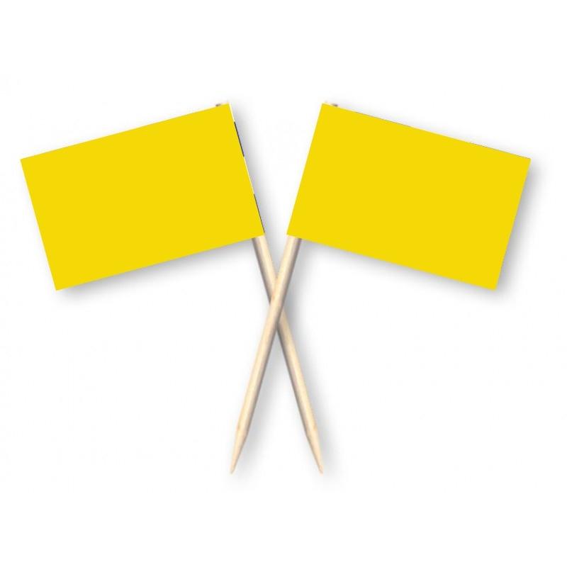 Cocktailprikkers geel, 50 stuks