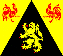 Tafelvlag Waals Brabant tafelvlag 10x15cm Waals Brabant