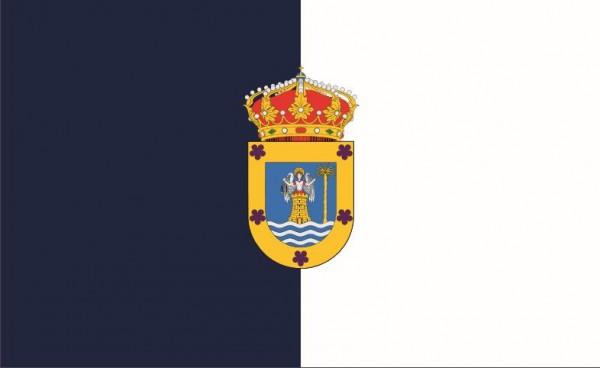 Vlag Las Palmas 50x75cm, grote gastenvlag