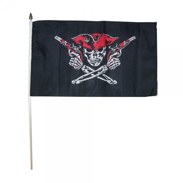 Zwaaivlag red Pirate 30x45cm