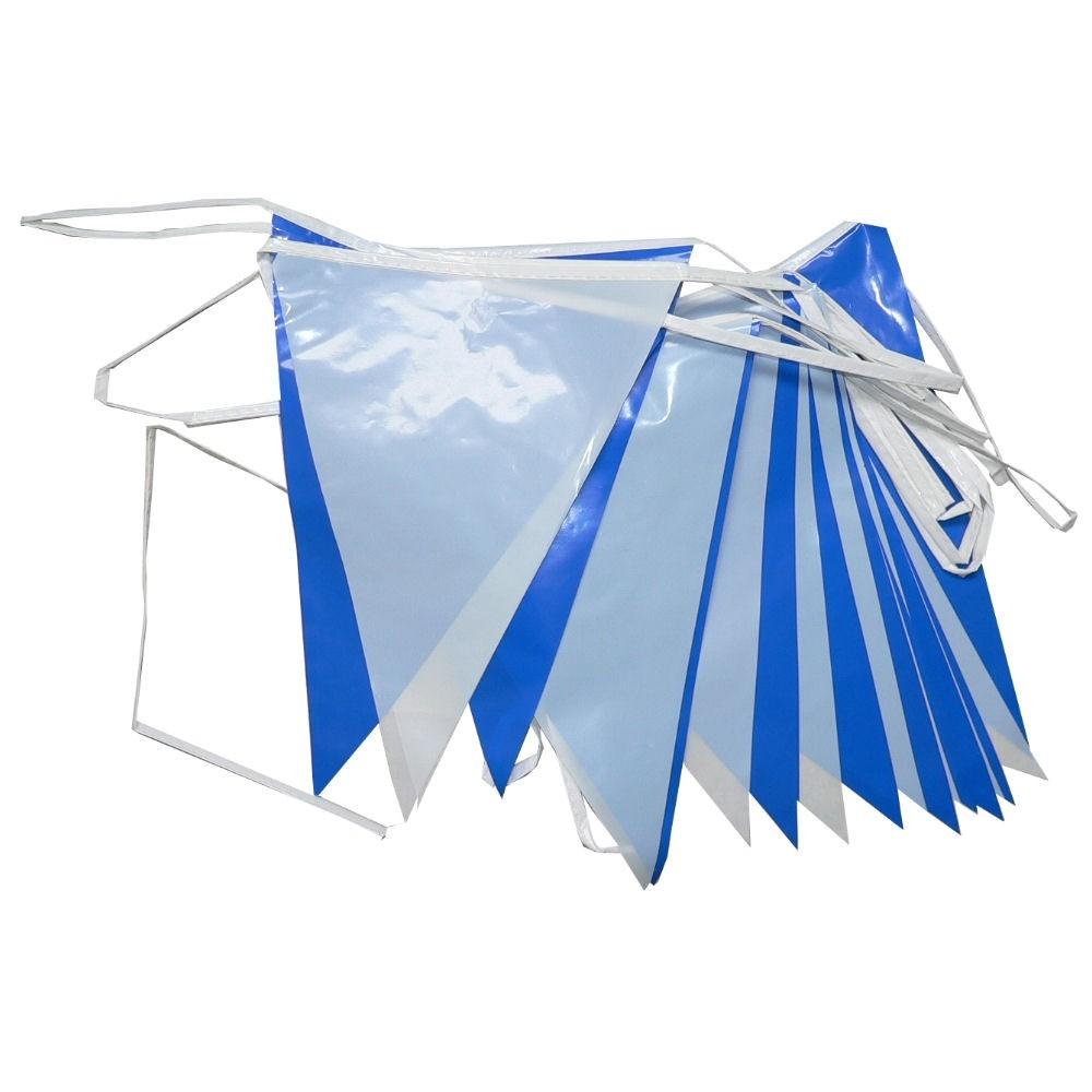 Vlaggenlijn Blauw Wit 10 meter lang PE