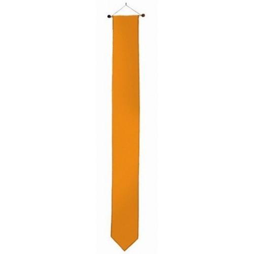 Oranje wimpel 17x155cm met stokje passend bij vlag 70x100cm en 80x120cm