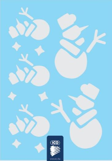 Sjabloon sneeuwpop, creatief voor kerst en winter sfeer