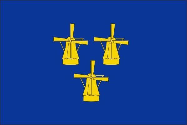 Voormalige vlag van de gemeente Papendrecht 30x45cm