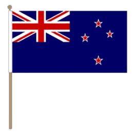 Zwaaivlag Nieuw-Zeeland, Nieuw-Zeelandse zwaaivlag 30x45cm, stoklengte 60cm