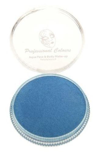 Parelmoer blauwe schmink Aqua PXP Waterbasis face & body 30 gram Pearl Sky Blue
