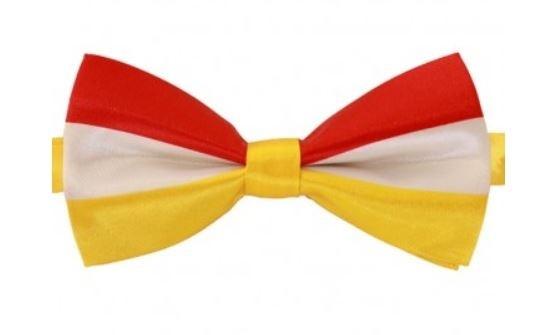 Vlinderstrik Rood-Wit Geel Oeteldonk 1