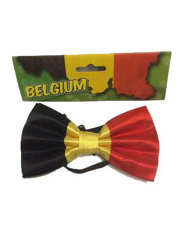 Strik Belgische vlag Belgie met elastiek