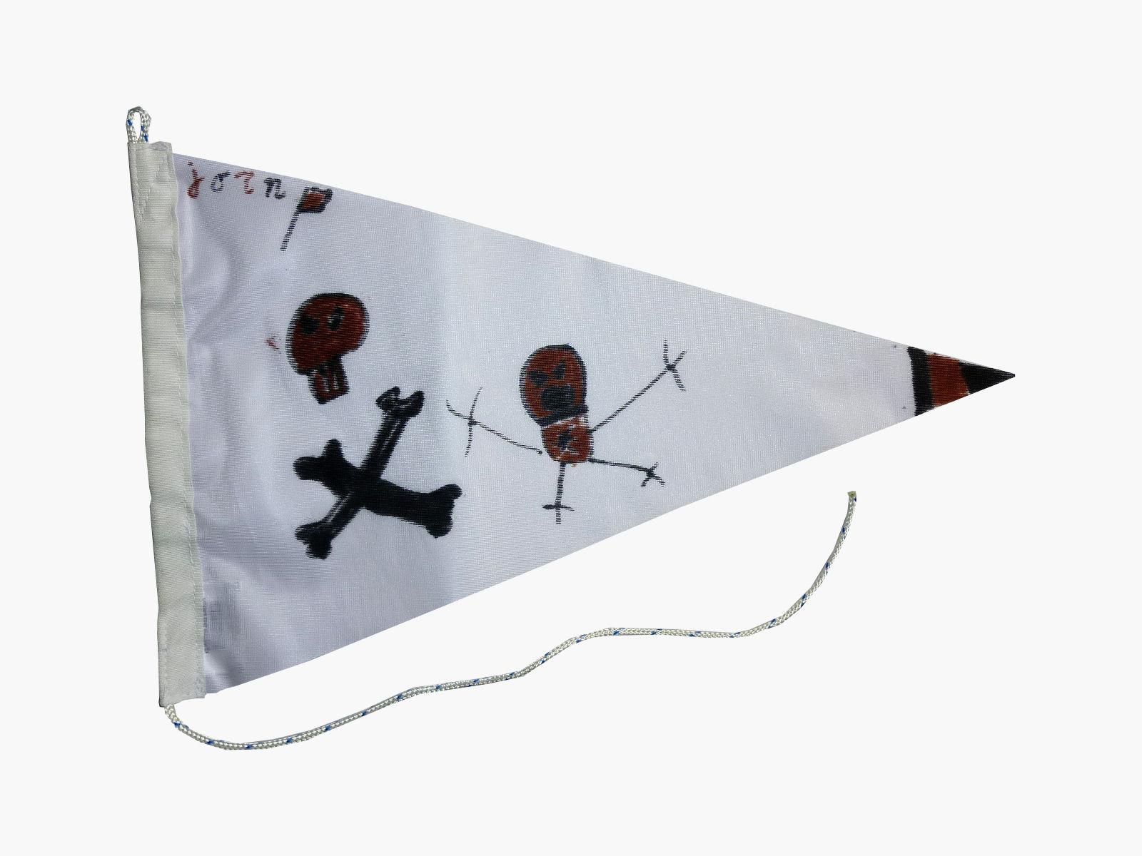 Voorbeeld puntvlag vlaggenclub maak je eigen vlaggenlijn