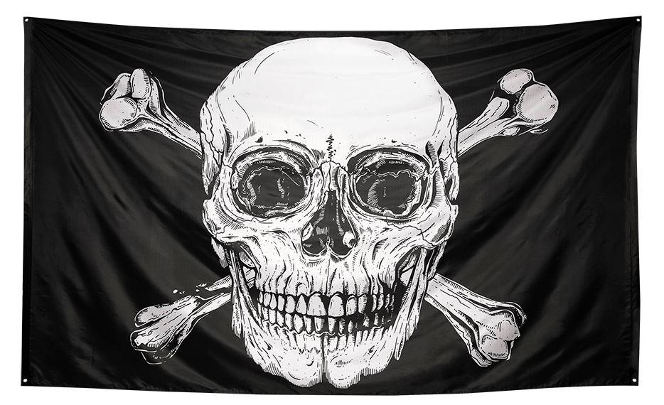 Piratenvlag Skull Doodshoofd XXL 200x300cm