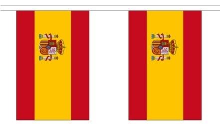 Vlaggenlijn Spanje met wapen 3m