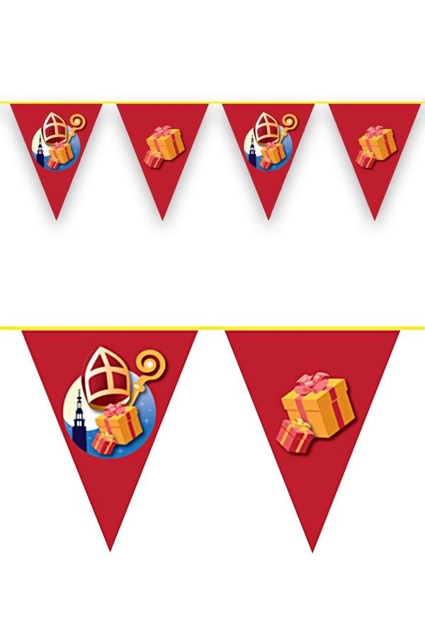 Vlaggenlijn Sinterklaas versiering 6m