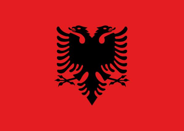 Tafelvlaggen Albanië 10x15cm | Albanische tafelvlag