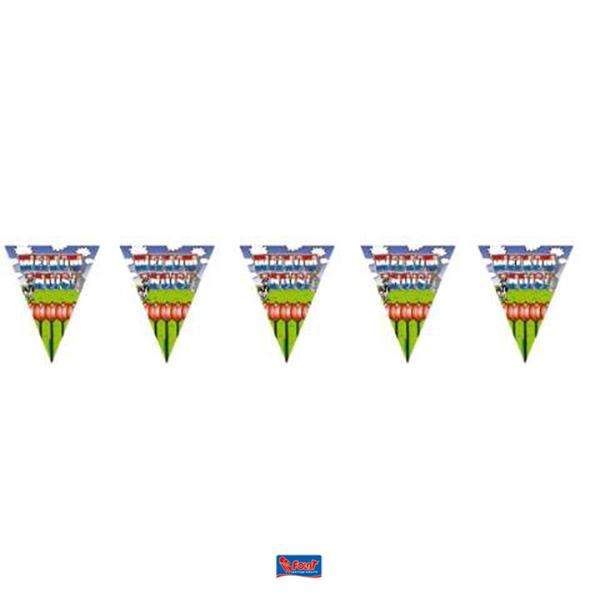 Welkom thuis vlaggenlijn met tulpen thema Holland 6m