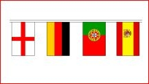 Vlaggen pakket met 24 vlaggen van alle deelnemende landen aan het EK