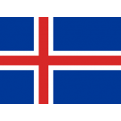 Vlag IJsland 70x100cm IJslandse gevelvlag