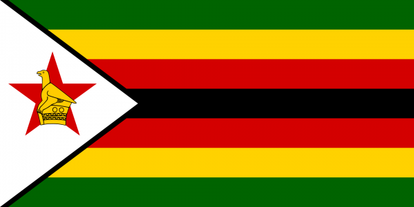 Vlag Zimbabwe 100x150cm Glanspoly