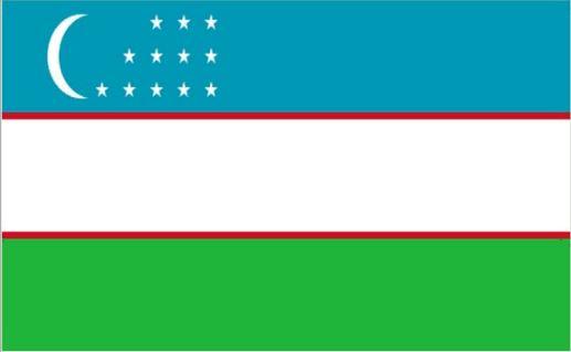 Tafelvlag Oezbekistan 10x15cm