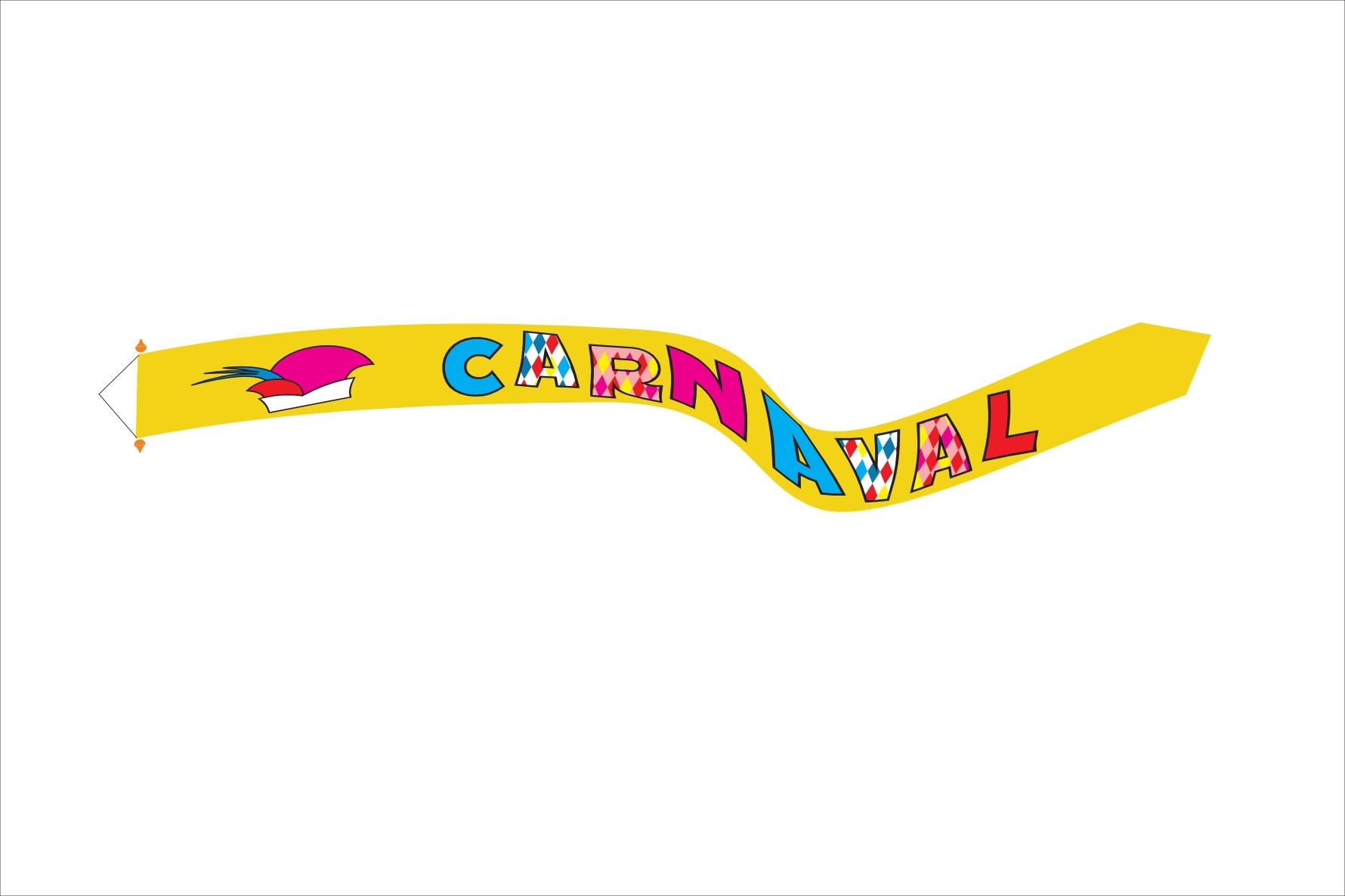 Wimpel Carnaval Prinsenmuts Alaaf 300x25cm